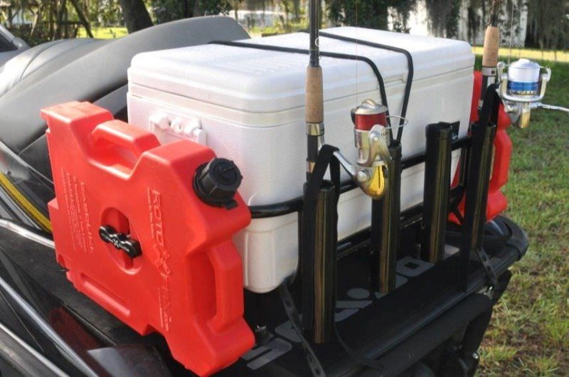 Fishing Racks with Cooler Box
